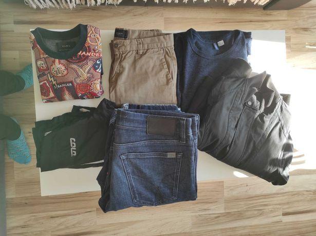 Paczka ubrań, Jeansy, bluza, kurtki. CK, ZARA,PEPE JEANS, RAW GSTAR.