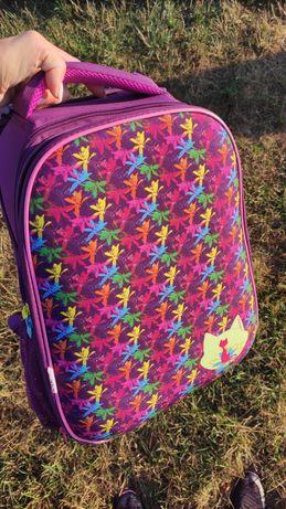 Рюкзак шкільний каркасний для дівчинки (KITE 531 фіолетовий)
