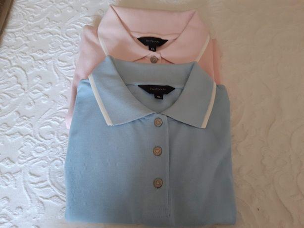 2 Polos manga curta, algodão, piedpoule, nunca usados+1 de oferta
