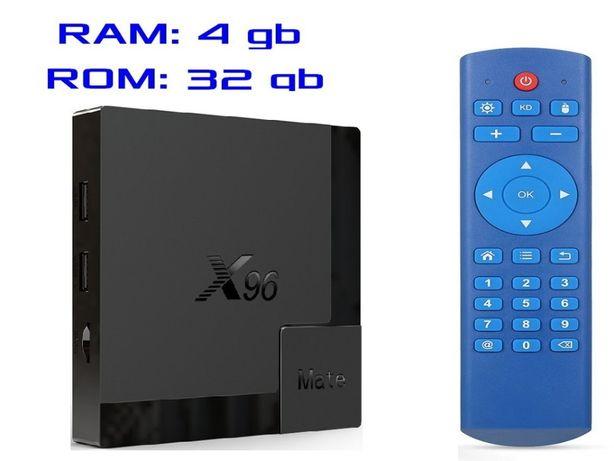 2020 год X96 MATE 4gb 32gb на Андроид 10 Смарт ТВ приставка + Гарантия
