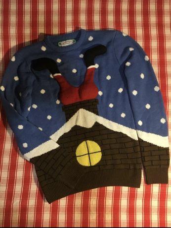 Тёплый новогодний свитер