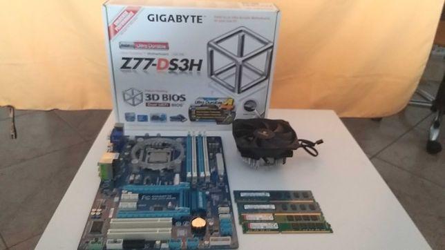 Bundle Intel Core I5 3570k, Motherboard Gigabyte Z77-DS3H, 24GB Ram