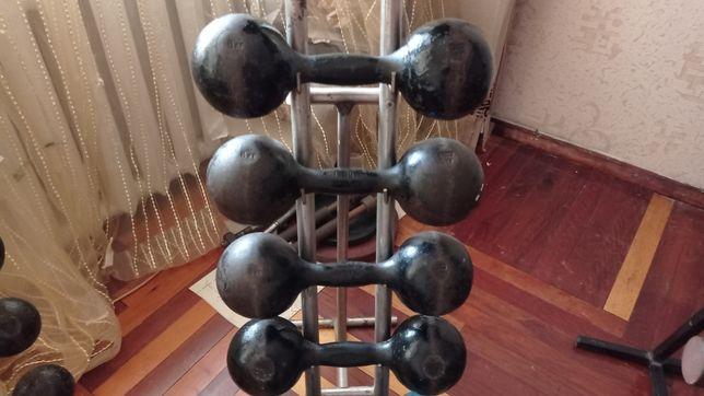 Гантели литые наборные СССР 1 кг 2 кг 3 кг 4 кг 5 кг 6кг 7кг 8кг 16 кг