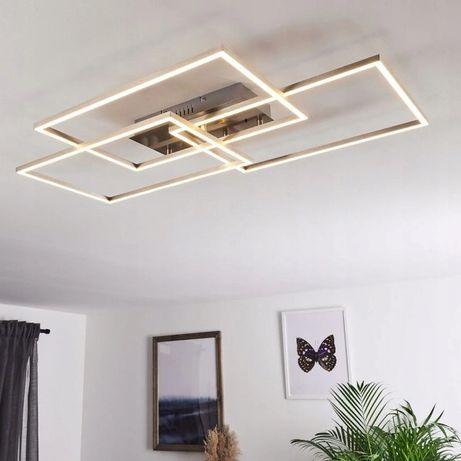 Lampa LED sufitowa ŻYRANDOL PILOT ciepła zimna barwy prostokąty