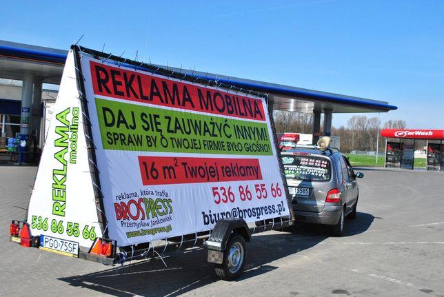 Przyczepa Reklamowa - Reklama Mobilna z nagłośnieniem