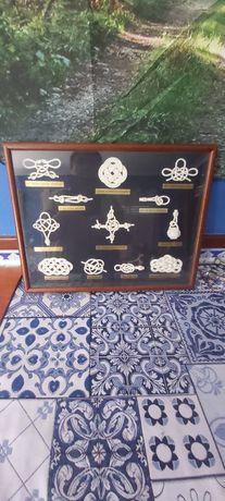 Quadro decorativo nós marinheiro. 40×30