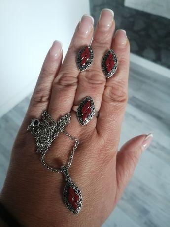 Unikatowy komplet biżuterii w markazytach