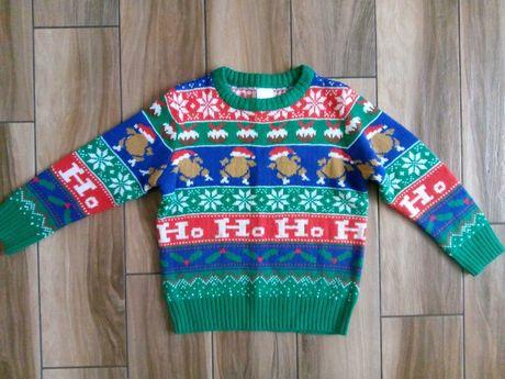 Sweter świąteczny F&F rozm 122