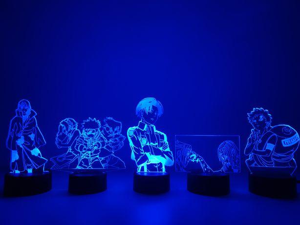 """АКЦИЯ! Светильник-ночник из Аниме """"Наруто"""" с 3D эффектом Итачи Саске"""