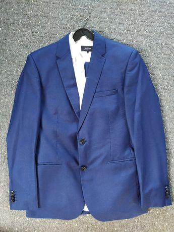Garnitur niebieski Bytom z koszulą, jak nowy na osobę wrost 176, ideał