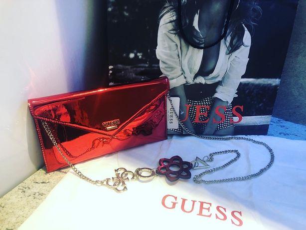 NOWA Kopertówka Guess (czerwona, błyszcząca)