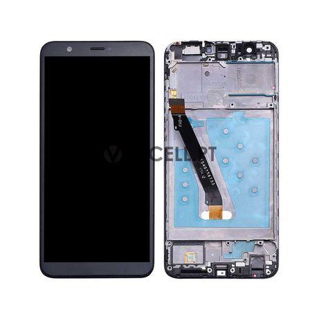 Ecrã com frame para Huawei P Smart - Preto