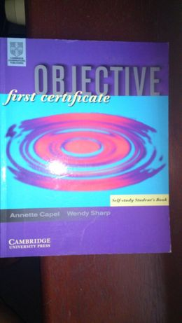 Objective first certificate, Cambridge