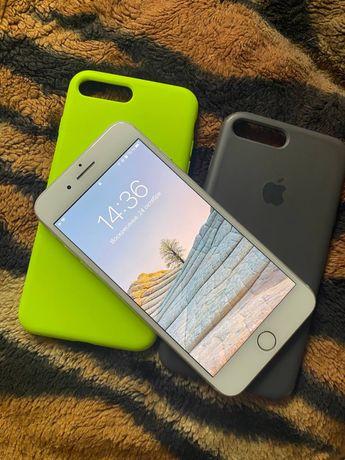 Iphone 7 plus 32 gb silver r sim + 2 чехла