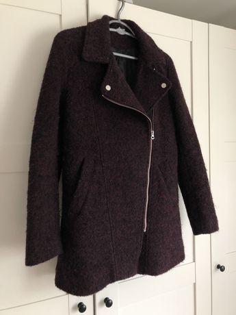 Płaszcz bordowy zimowy stan idelany