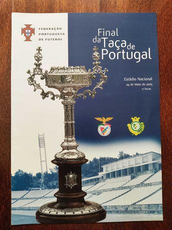 Programa/revista final Taça Portugal 2005 Benfica-Setúbal
