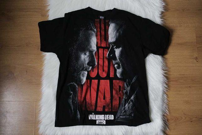 Walking Dead koszulka T-shirt S print serial zombie horror amc