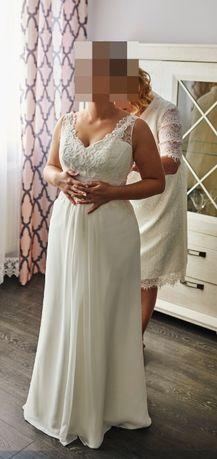 Romantyczna suknia ślubna dla niskiej Panny Młodej