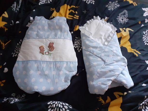 Rożek i śpiworek dla niemowlaka