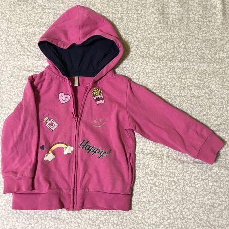 Розовая детская кофточка, кофта на девочку