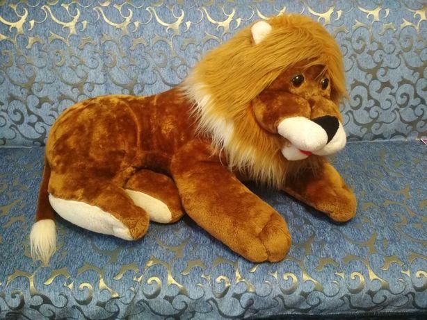 Лев большая мягкая игрушка