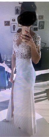 Suknia ślubna projekt i wykonanie Aleksandra Mirosław