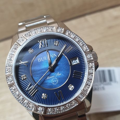 Женские новые часы BULOVA Marine Star Midnight BUL96R215
