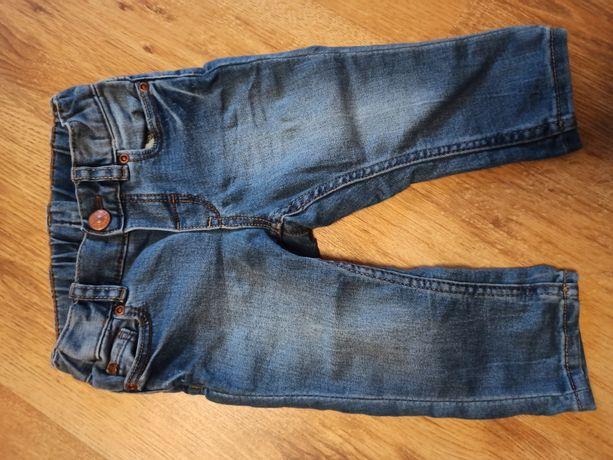 Jeansy regulowane H&M 68 plus gratis