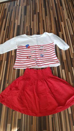 Komplet h&m 110 116 spódniczka bluzka marynarski styl dla dziewczynki