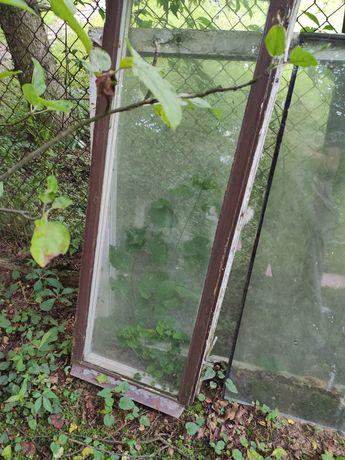 3 okna drewniane 1 duze