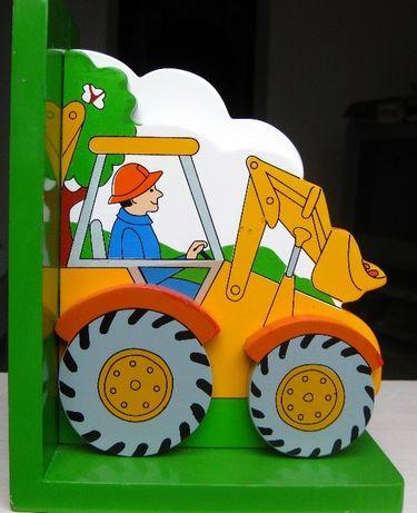 Держатель для книг или учебников. Детская комната Деревянный трактор