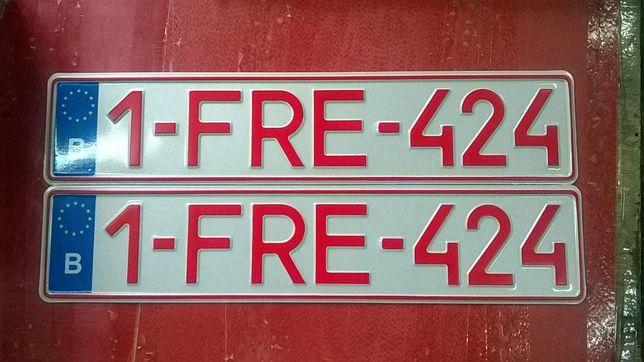 Сувенирные европейские номерные знаки