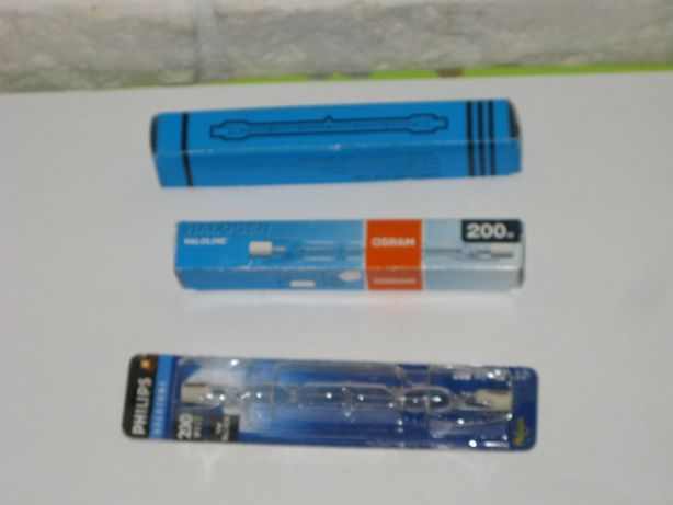 oświetlenie, lampa, żarnik halogenowy osram, philips 200 W, 118 mm