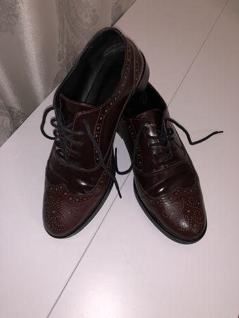 Туфли кожаные на шнурках ( дерби)