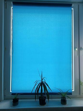 Rolety na okna turkus/beż