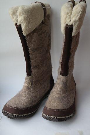 Sorel натуральные новые  ботинки сапоги 38 оригинал валенки