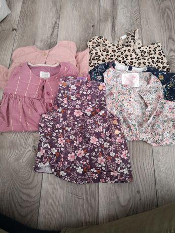 Sukienki, bluzki, ogrodniczki h&m, f&f i inne rozm 74