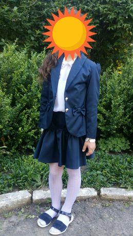 Школьная форма, костюм: юбка и пиджак