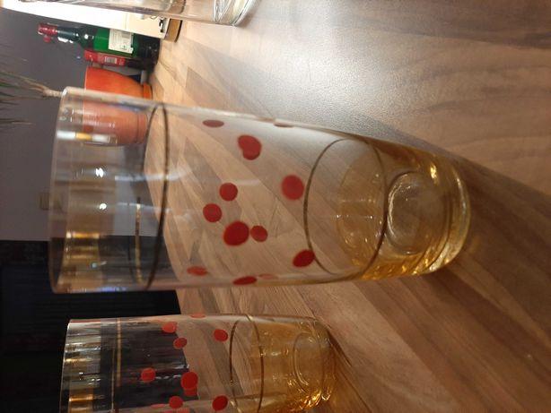 Wysokie szklanki prl