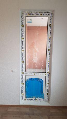 Дверь на балкон от застройщика