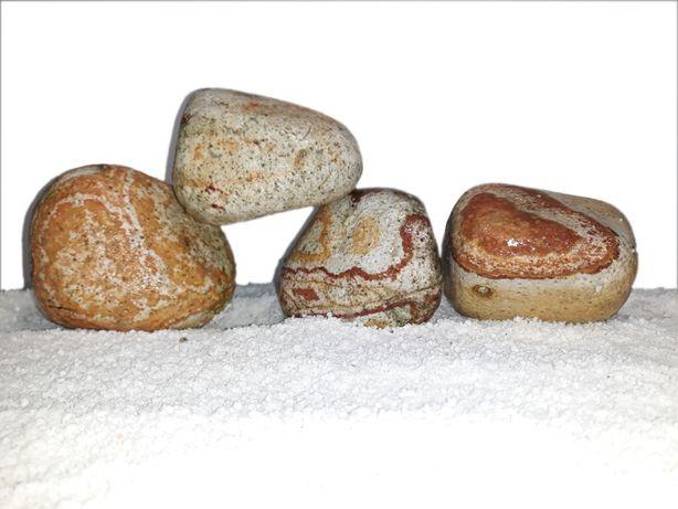 Wyjątkowe tęczowe kamienie ozdobne do akwarium 4-8 cm 5 kg