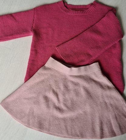 Sweter i spódniczka ZARA r.110
