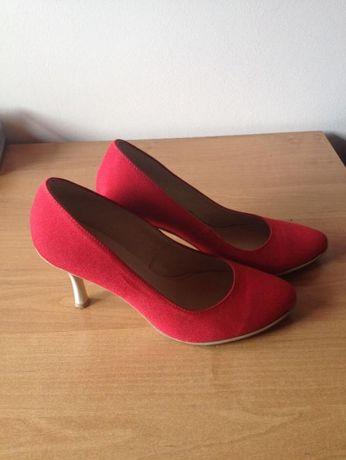 Slubne czerwone buty witt 38