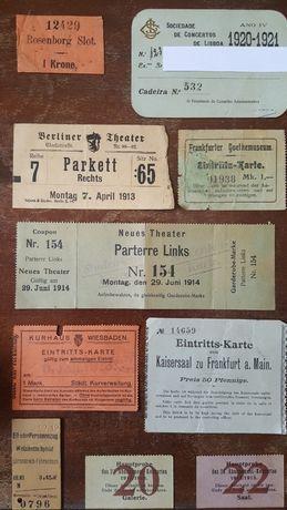 Bilhetes variados muito antigos e Selos de colecção (Filatelia)