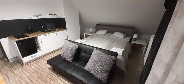 Pokój z aneksem, balkonem i łazienką- Apartament Delux studio,2+ 1