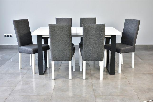 Nowość!! Stół + 6 krzeseł tapicerowanych Extra cena! Dostawa