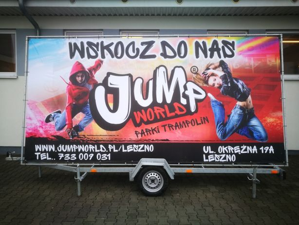 Przyczepy reklamowe/ Reklama Mobilna/ Wynajem/ Banery/ Wrocław