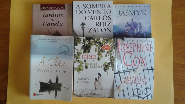 Livros : A sombra do vento, Jasmin, A Ilha, etc