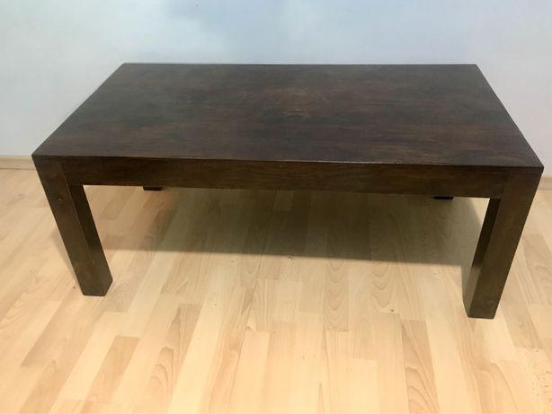 Kolonialny stolik - Drewniana ława - mały stół do salonu - Palisander