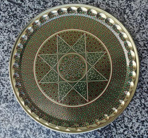 Тарілка декоративна метал Іран, тарелка декоративная Иран